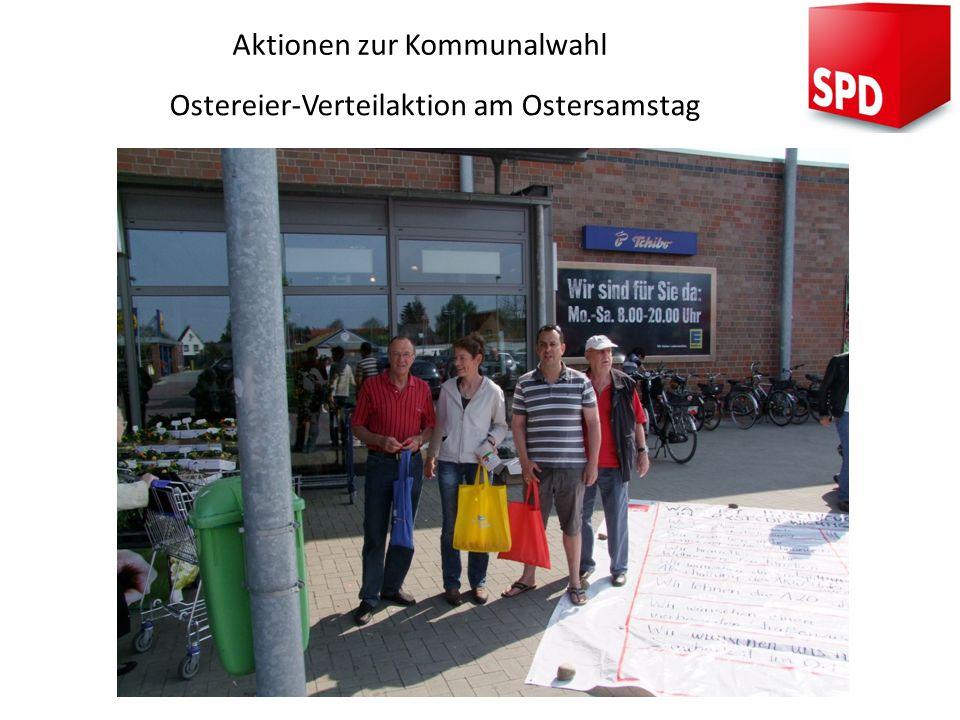 Aktionen zur Kommunalwahl Ostereier-Verteilaktion am Ostersamstag
