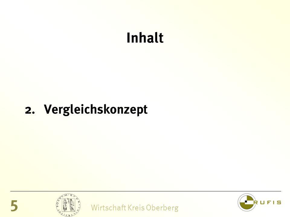 5 Wirtschaft Kreis Oberberg Inhalt 2.Vergleichskonzept