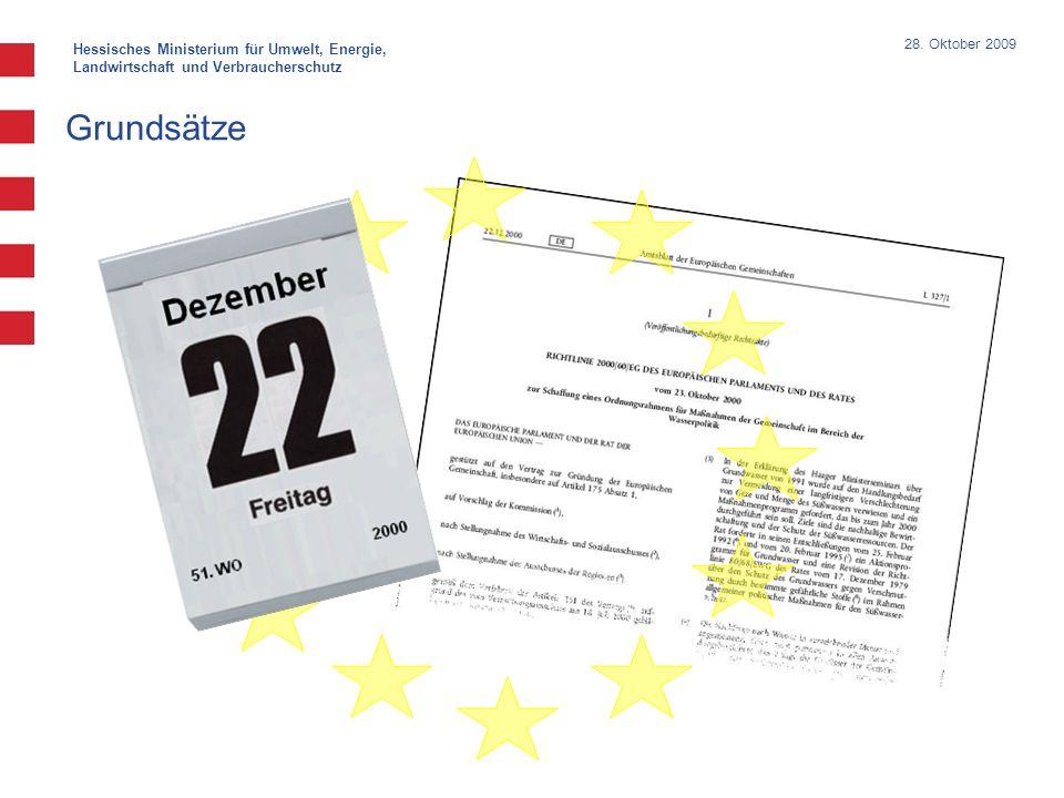 Hessisches Ministerium für Umwelt, Energie, Landwirtschaft und Verbraucherschutz 28. Oktober 2009 Grundsätze