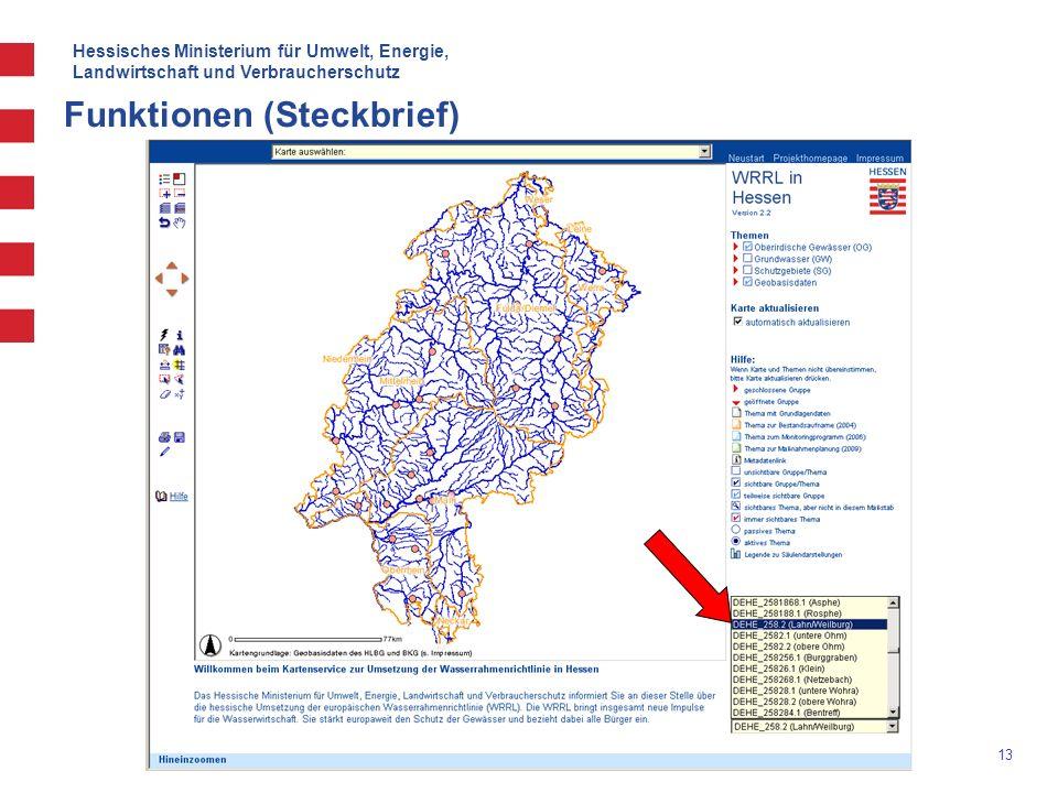 Hessisches Ministerium für Umwelt, Energie, Landwirtschaft und Verbraucherschutz 13 Funktionen (Steckbrief)