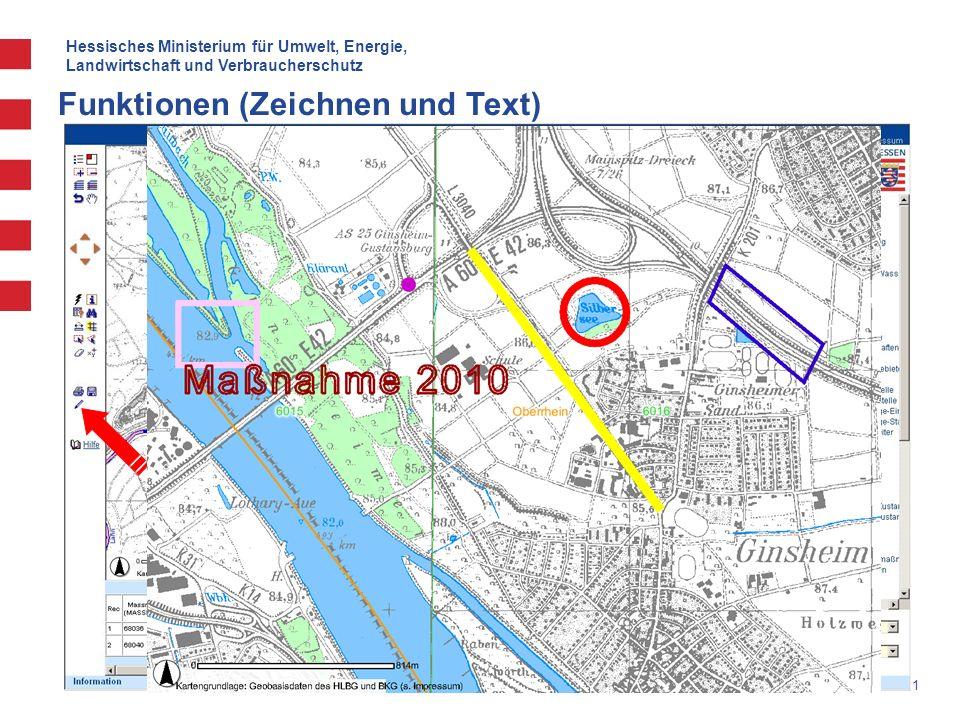 Hessisches Ministerium für Umwelt, Energie, Landwirtschaft und Verbraucherschutz 21 Funktionen (Zeichnen und Text)