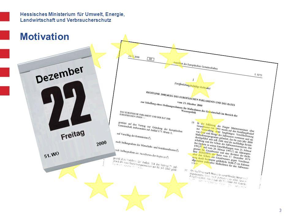 Hessisches Ministerium für Umwelt, Energie, Landwirtschaft und Verbraucherschutz 3 Motivation