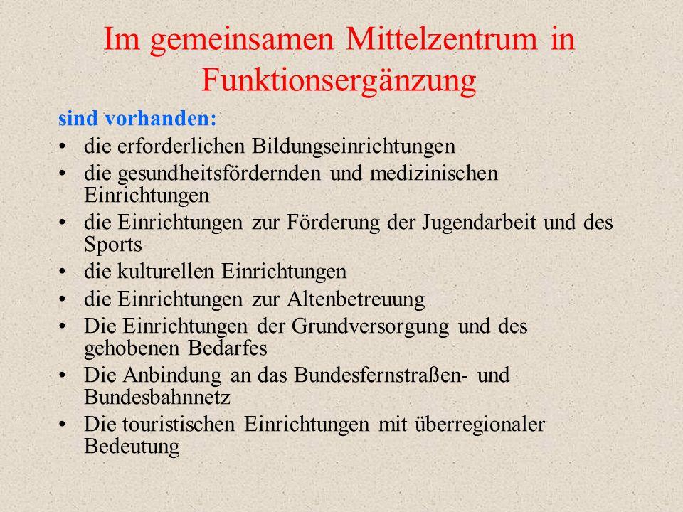 Funktionsergänzung Entwicklungsziele Bad Liebenwerda - Kurstadt - Erholungszentrum (Tourismus) - Kulturstadt - Gesundheits- und Kongresszentrum Elster