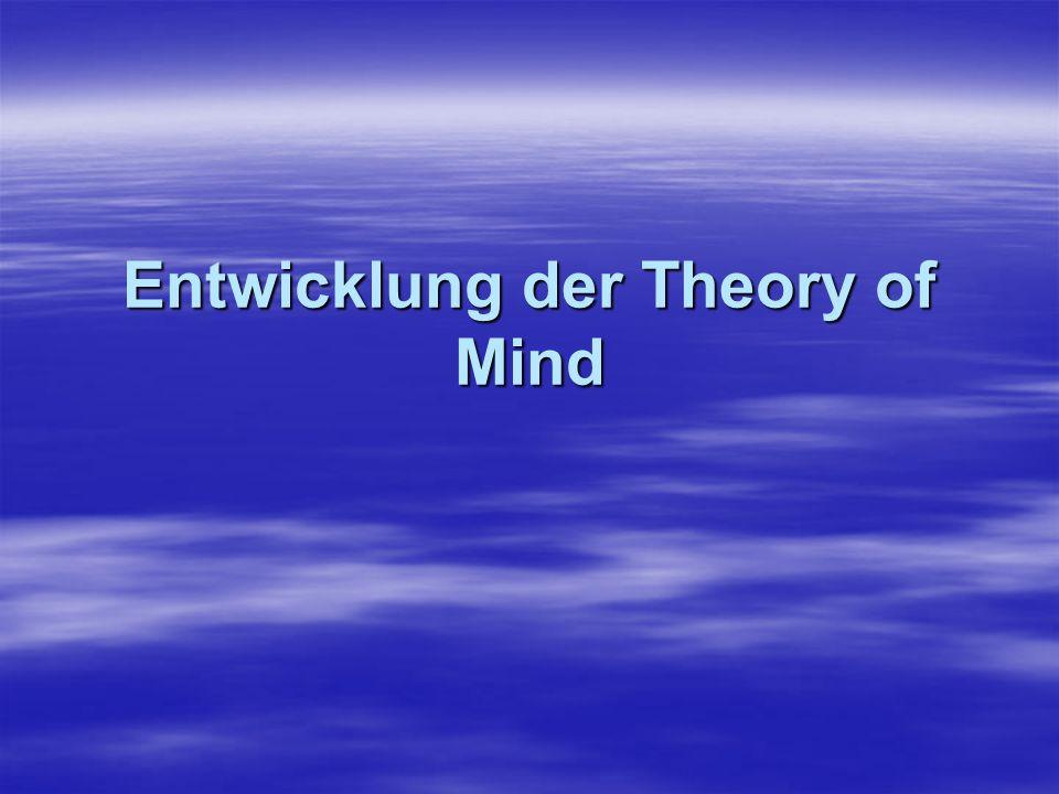 Vorläufer der Theory of Mind: Unterscheidung zwischen eigenen und fremden Gefühlen bzw.