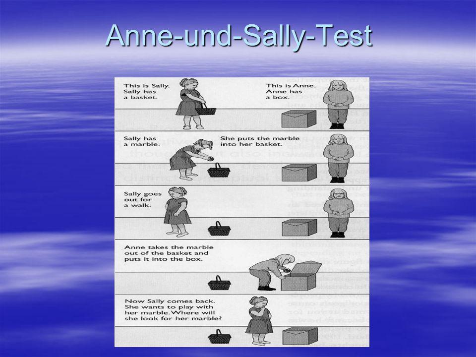 Annahmeerhebung, die Intelligenztestungen und die Durchführung des Sally-und-Anne-Tests wurden in einem 60-90 minütigen Aufenthaltes im Untersuchungsraum in der Heilpädagogischen Fakultät Köln durchgeführt.Annahmeerhebung, die Intelligenztestungen und die Durchführung des Sally-und-Anne-Tests wurden in einem 60-90 minütigen Aufenthaltes im Untersuchungsraum in der Heilpädagogischen Fakultät Köln durchgeführt.