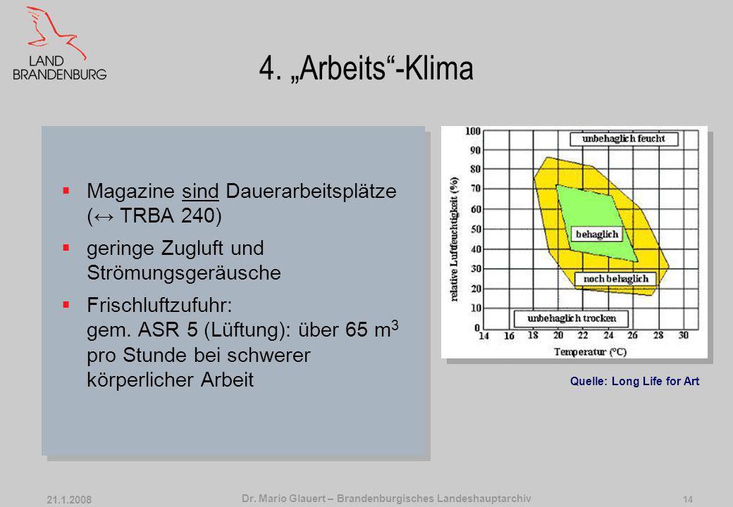 Dr. Mario Glauert – Brandenburgisches Landeshauptarchiv 21.1.2008 13 4. Arbeits-Klima Zielkonflikt ArchivgutMensch Zeichnung: Tim PadfieldFoto: Landes