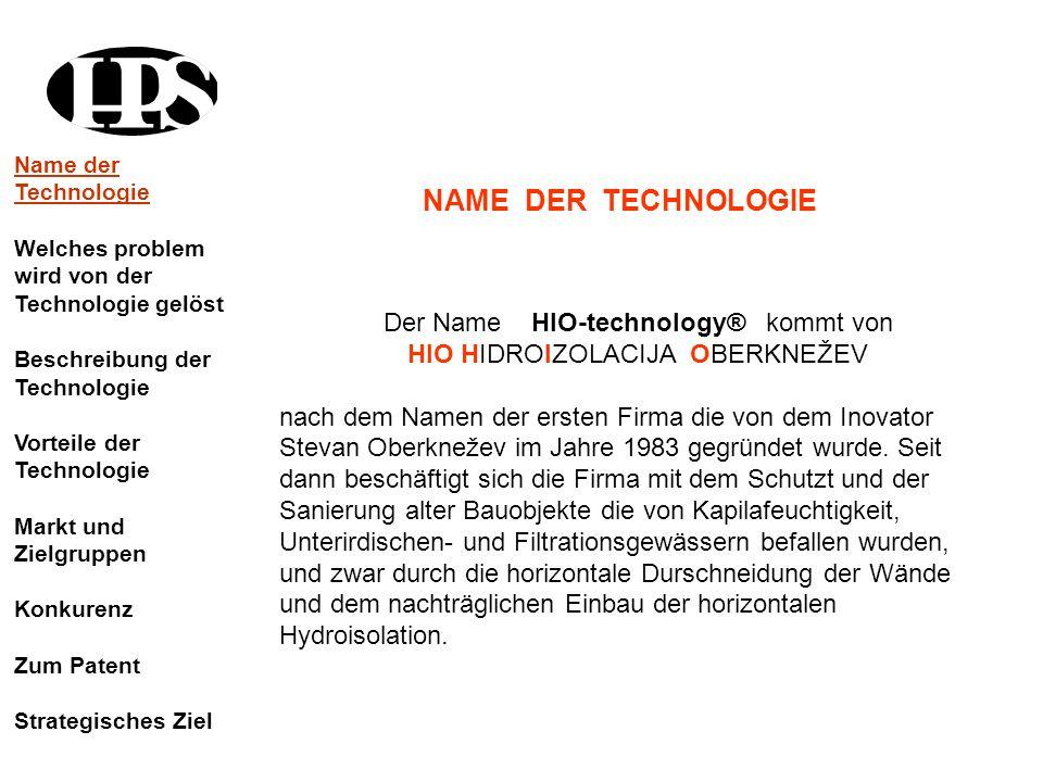 Der Name HIO-technology® kommt von HIO HIDROIZOLACIJA OBERKNEŽEV nach dem Namen der ersten Firma die von dem Inovator Stevan Oberknežev im Jahre 1983