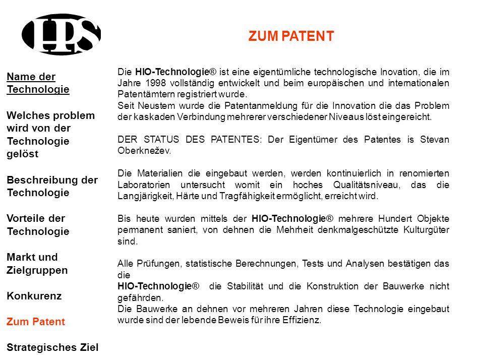 Die HIO-Technologie® ist eine eigentümliche technologische Inovation, die im Jahre 1998 vollständig entwickelt und beim europäischen und international