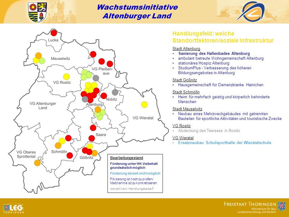 Wachstumsinitiative Altenburger Land Handlungsfeld: weiche Standortfaktoren/soziale Infrastruktur Stadt Altenburg Sanierung des Hallenbades Altenburg