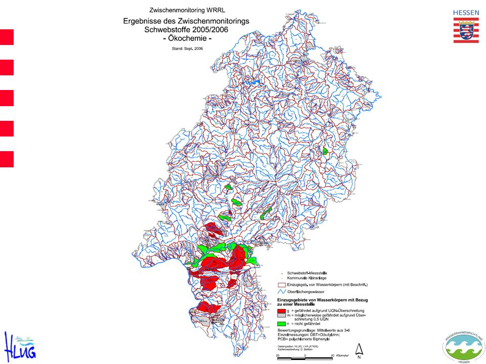 Monitoring feststoffgebundener organischer Schadstoffe und Schwermetalle