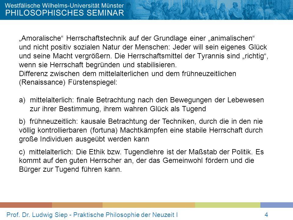 Prof. Dr. Ludwig Siep - Praktische Philosophie der Neuzeit I4 Amoralische Herrschaftstechnik auf der Grundlage einer animalischen und nicht positiv so