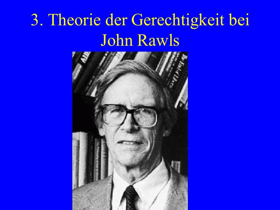 3. Theorie der Gerechtigkeit bei John Rawls