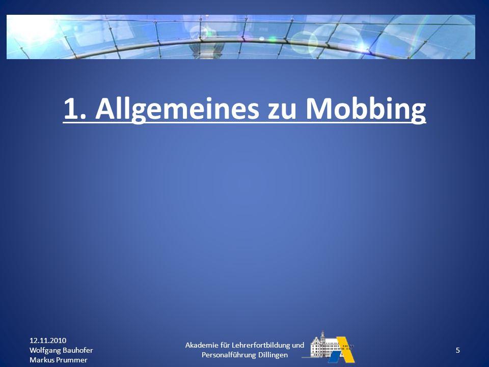 Was ist Mobbing.