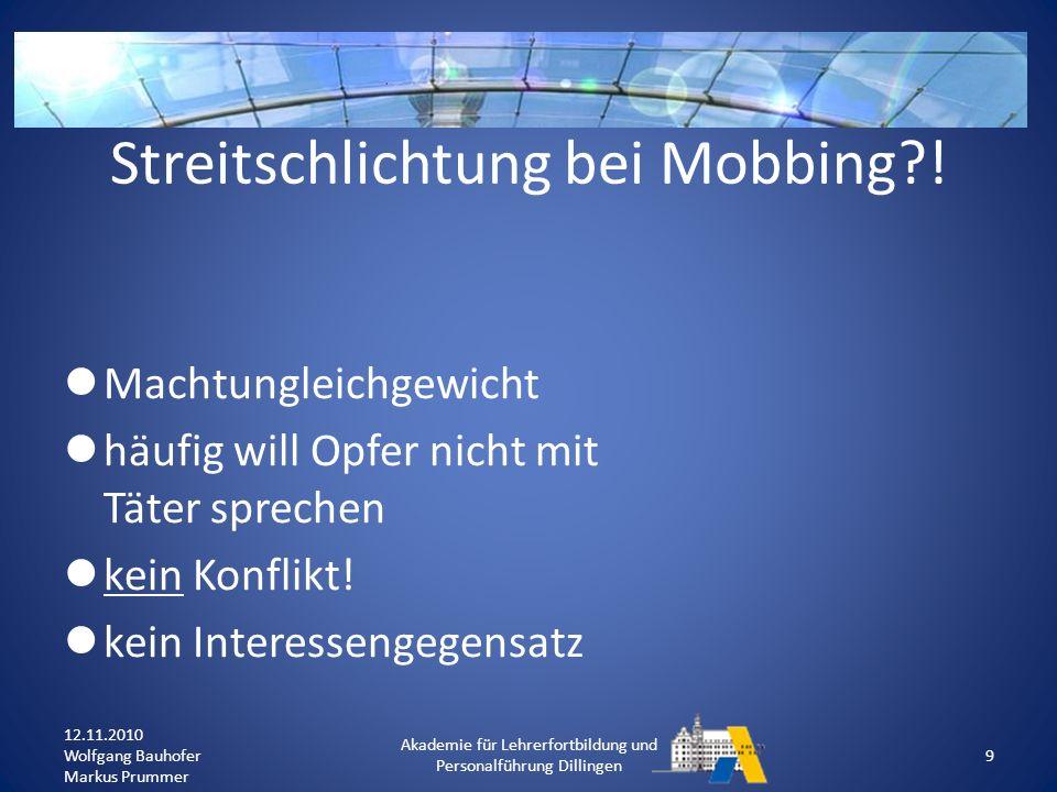 Klassenebene: Projekt-Woche zum Thema Mobbing (z.B.
