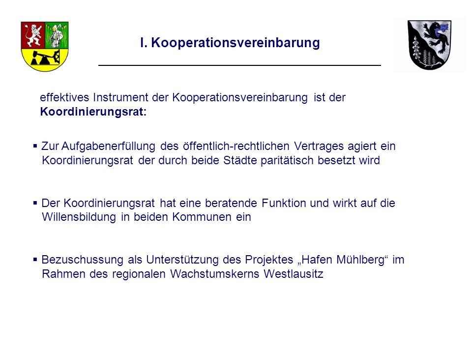 I. Kooperationsvereinbarung Zur Aufgabenerfüllung des öffentlich-rechtlichen Vertrages agiert ein Koordinierungsrat der durch beide Städte paritätisch