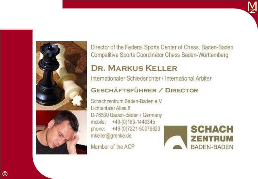M © Mannschaftsführer Schach FIDE- und badische Regeln Bekannte und verkannte Regeln 2.10.2010, Markus Keller, www.gkl-bw.de/FIDE-Regeln-2009.htm (mit Erläuterungen) Wartezeit Illegale Züge Störungen Sonstiges Baden Lex Baden Vorwort Remis