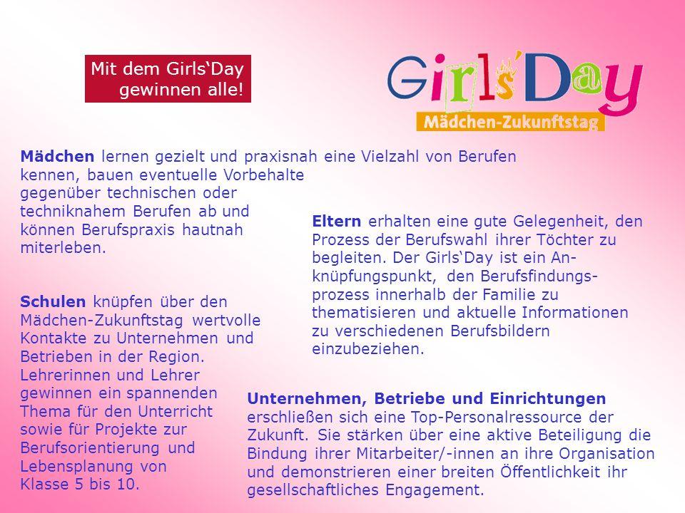 Mit dem GirlsDay gewinnen alle.