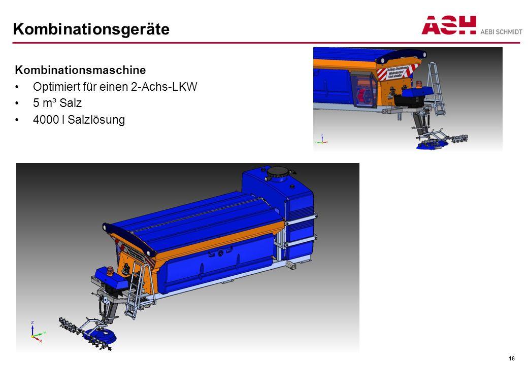 Kombinationsgeräte Kombinationsmaschine Optimiert für einen 2-Achs-LKW 5 m³ Salz 4000 l Salzlösung 16