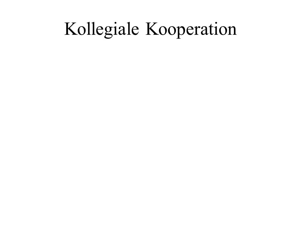 Kollegiale Kooperation