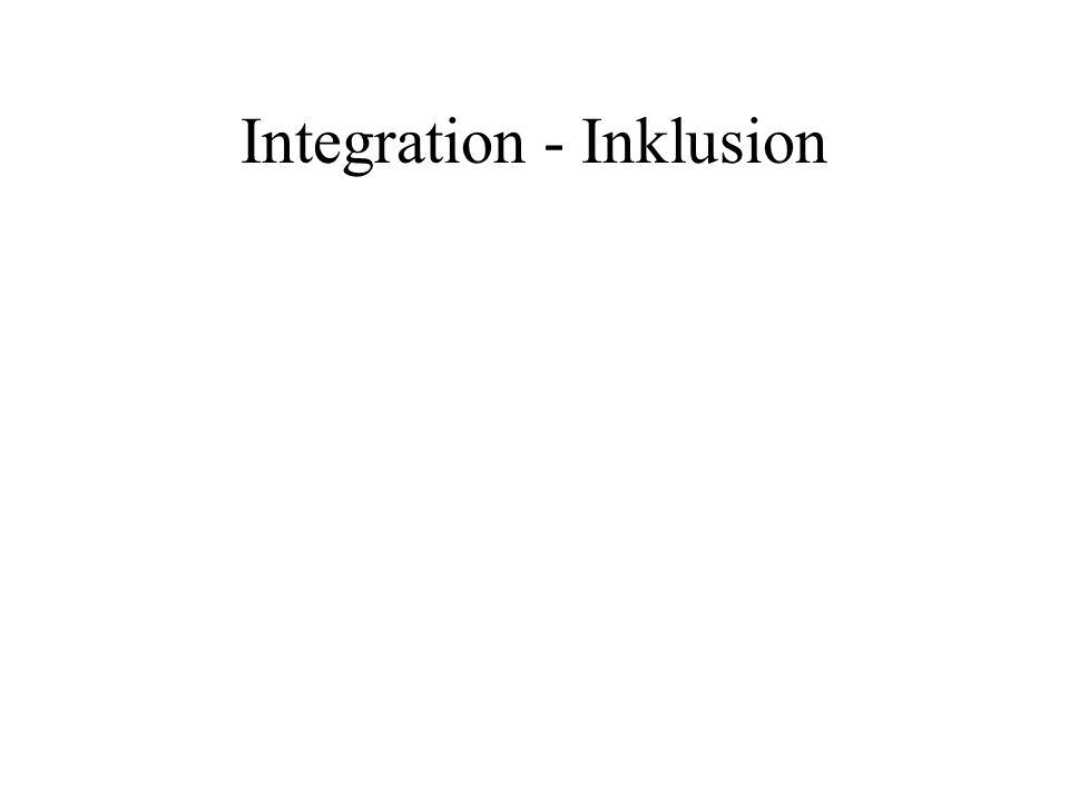 Dimensionen von Inklusion Inklusion als gemeinsame Beschulung von Schülerinnen und Schülern mit und ohne Behinderungen Inklusion als Konzept zur Überwindung von Diskriminierung aller Risikogruppen in Schule Inklusion als Konzept zur institutionellen Entwicklung einer Schule für alle Inklusion als Werteorientierung