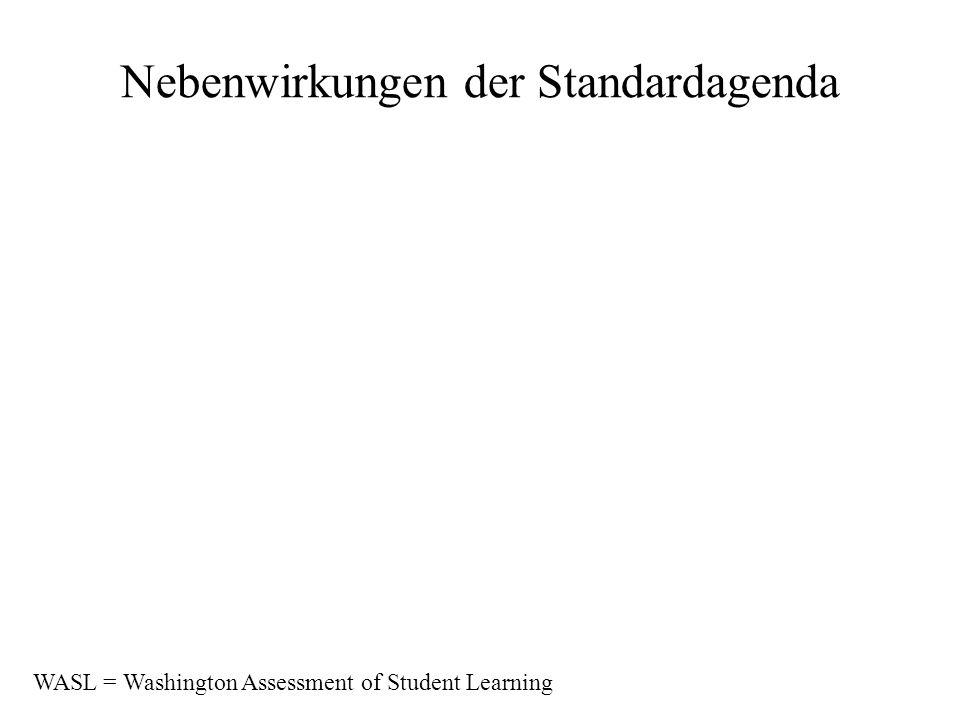 Nebenwirkungen der Standardagenda WASL = Washington Assessment of Student Learning