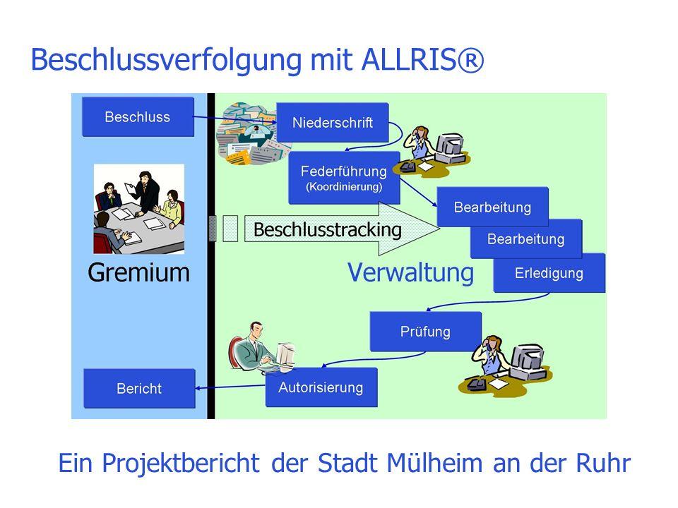 Beschlussverfolgung mit ALLRIS® Ein Projektbericht der Stadt Mülheim an der Ruhr