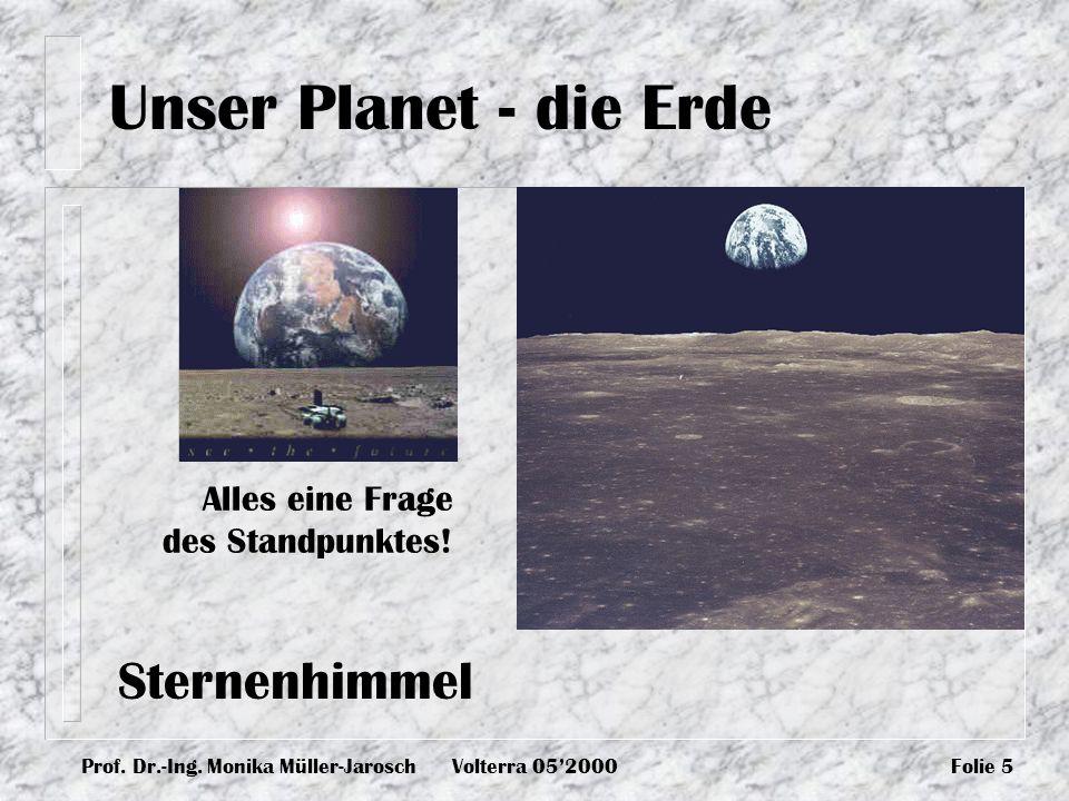 Prof. Dr.-Ing. Monika Müller-JaroschVolterra 052000Folie 5 Alles eine Frage des Standpunktes! Unser Planet - die Erde Sternenhimmel