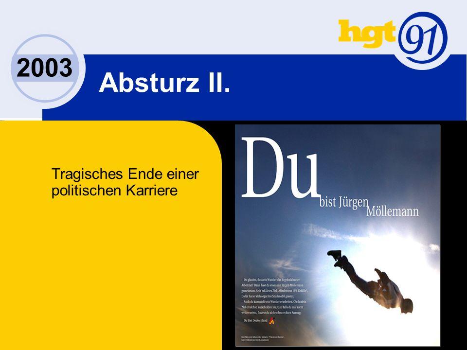 2003 Absturz II. Tragisches Ende einer politischen Karriere