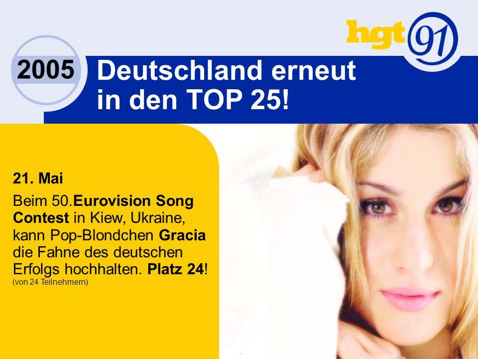 2005 Deutschland erneut in den TOP 25. 21.