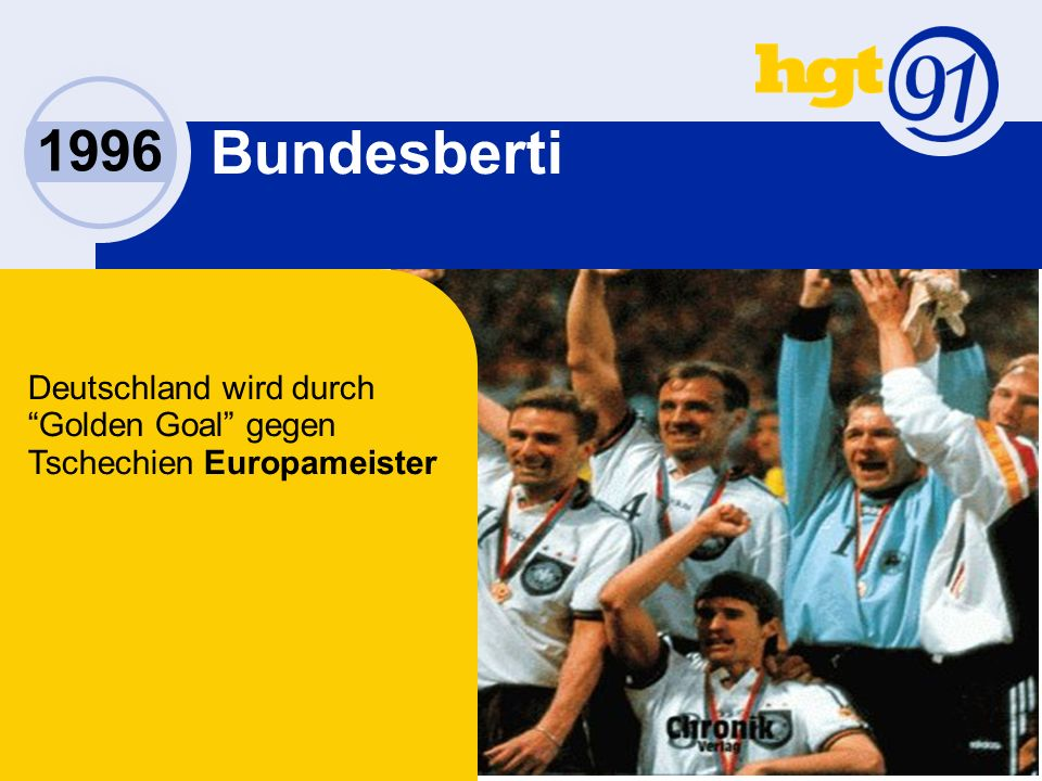 Bundesberti Deutschland wird durch Golden Goal gegen Tschechien Europameister