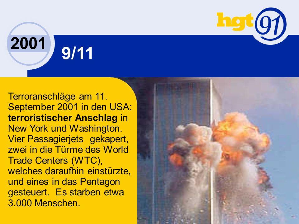 2001 9/11 Terroranschläge am 11.