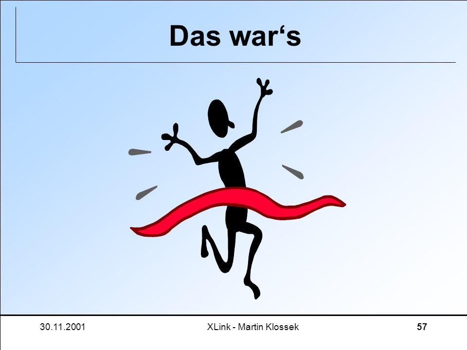 30.11.2001XLink - Martin Klossek57 Das wars