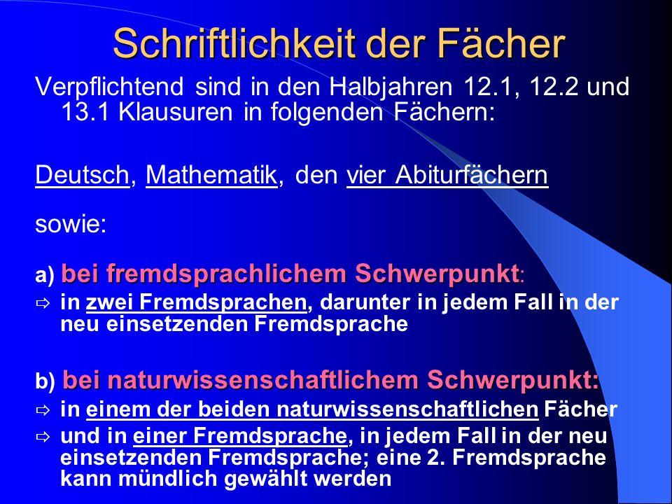Abiturbedingungen Latein-Regelung für den Abiturjahrgang 2009: Latein kann als GK bis 13.2 gewählt werden Lateinwahl deckt nicht fortgeführte Fremdspr