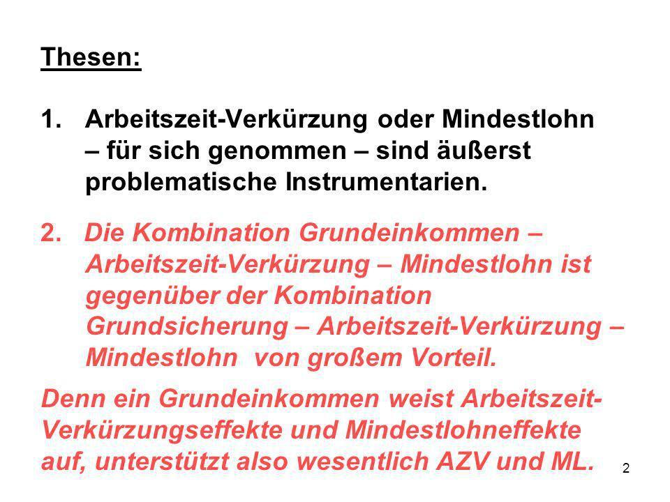 13 Grundeinkommen und Mindestlohn (ML) 2.