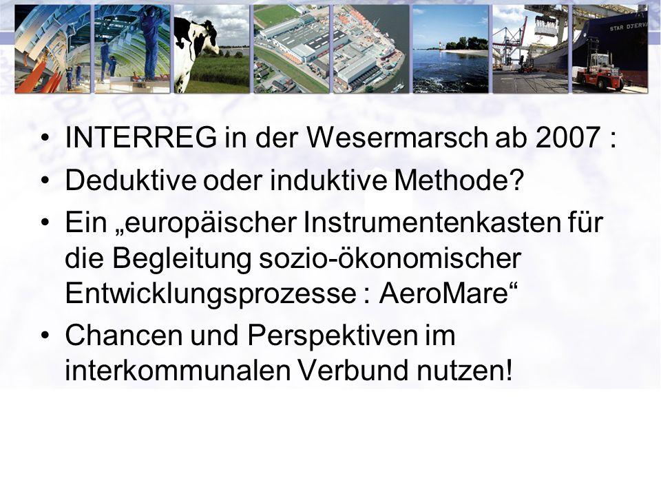 INTERREG in der Wesermarsch ab 2007 : Deduktive oder induktive Methode.