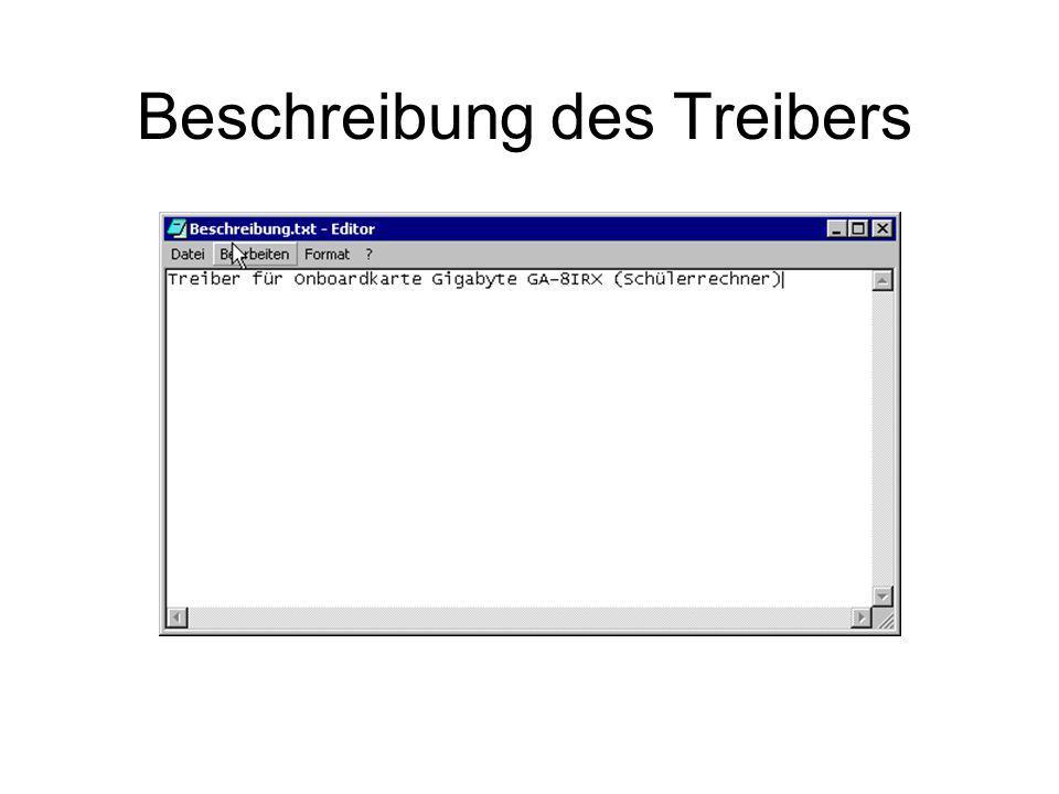 Beschreibung des Treibers