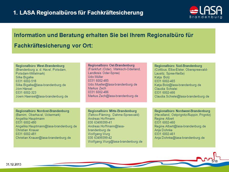 31.12.2013 16/18 Kooperationsrichtlinie ArbeitgeberzusammenschlüsseQualifizierungsnetzwerke Ziel: Synergien durch gemeinsame Bildungsplanung nutzen Themenschwerpunkte können sein: - Qualifizierungsbedarf ermitteln, - Bildungsmaßnahmen organisieren, - Übergangsmanagement, - Wissensmanagement, - Qualitätsmanagement...