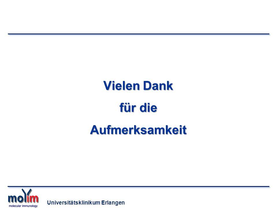 Universitätsklinikum Erlangen Vielen Dank für die Aufmerksamkeit