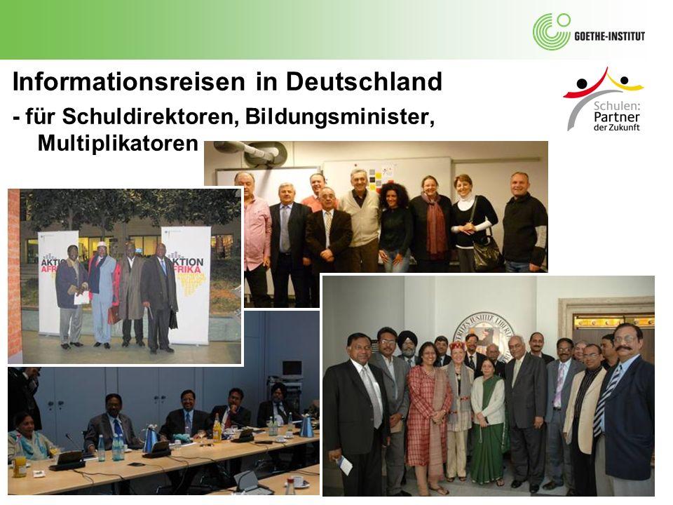 Informationsreisen in Deutschland - für Schuldirektoren, Bildungsminister, Multiplikatoren