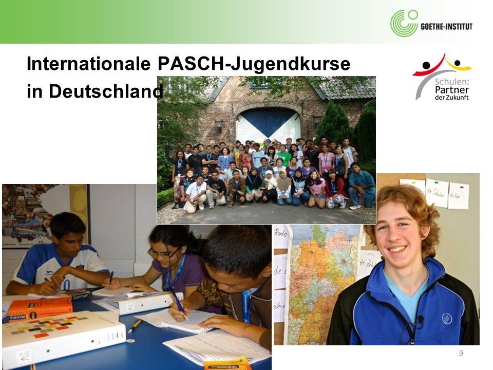 10 Jugendprüfungen des Goethe- Instituts Die Jugendprüfungen des Goethe-Instituts werden im Rahmen von PASCH verstärkt abgenommen.