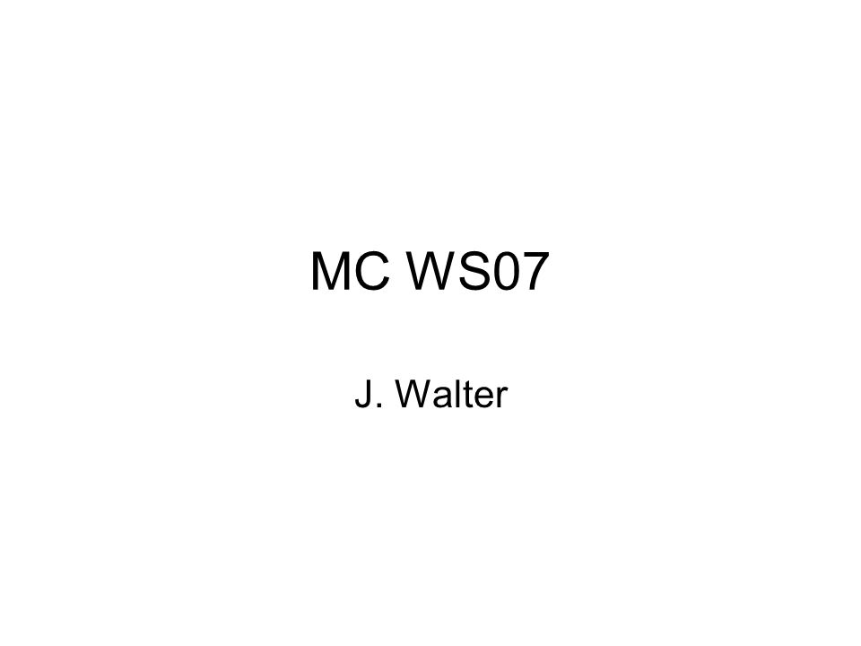 MC WS07 J. Walter