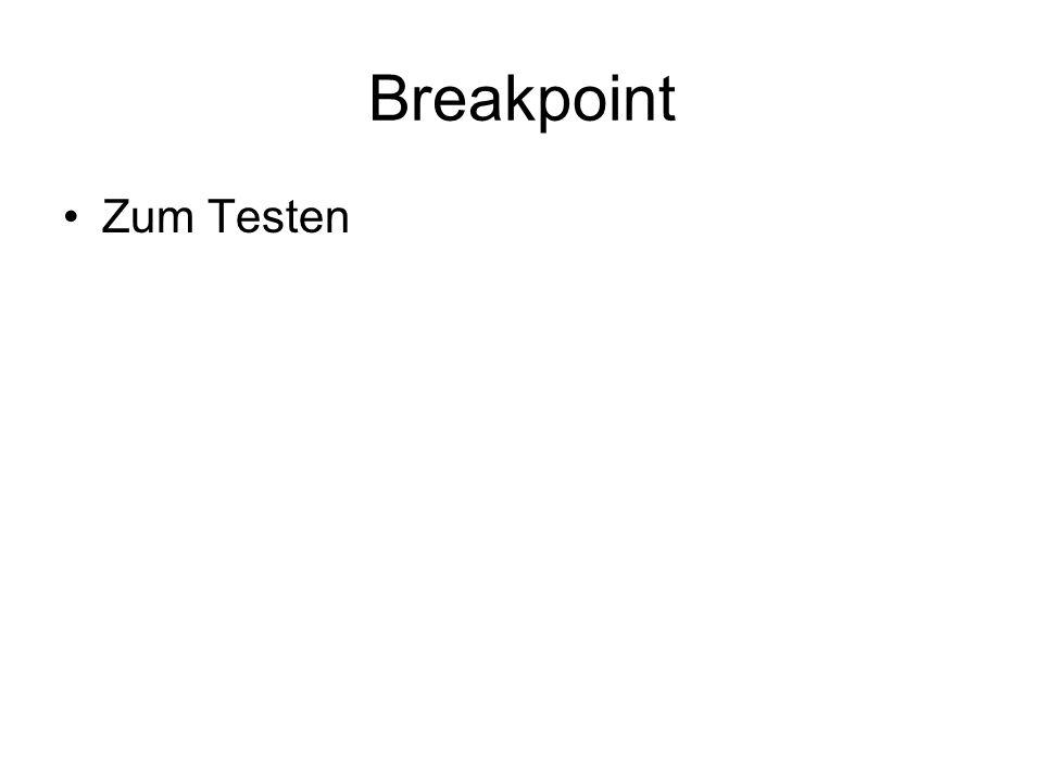 Breakpoint Zum Testen