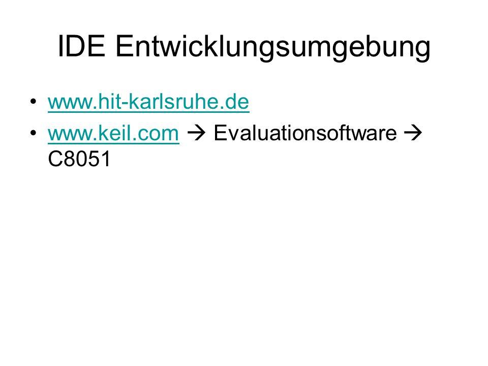 IDE Entwicklungsumgebung www.hit-karlsruhe.de www.keil.com Evaluationsoftware C8051www.keil.com