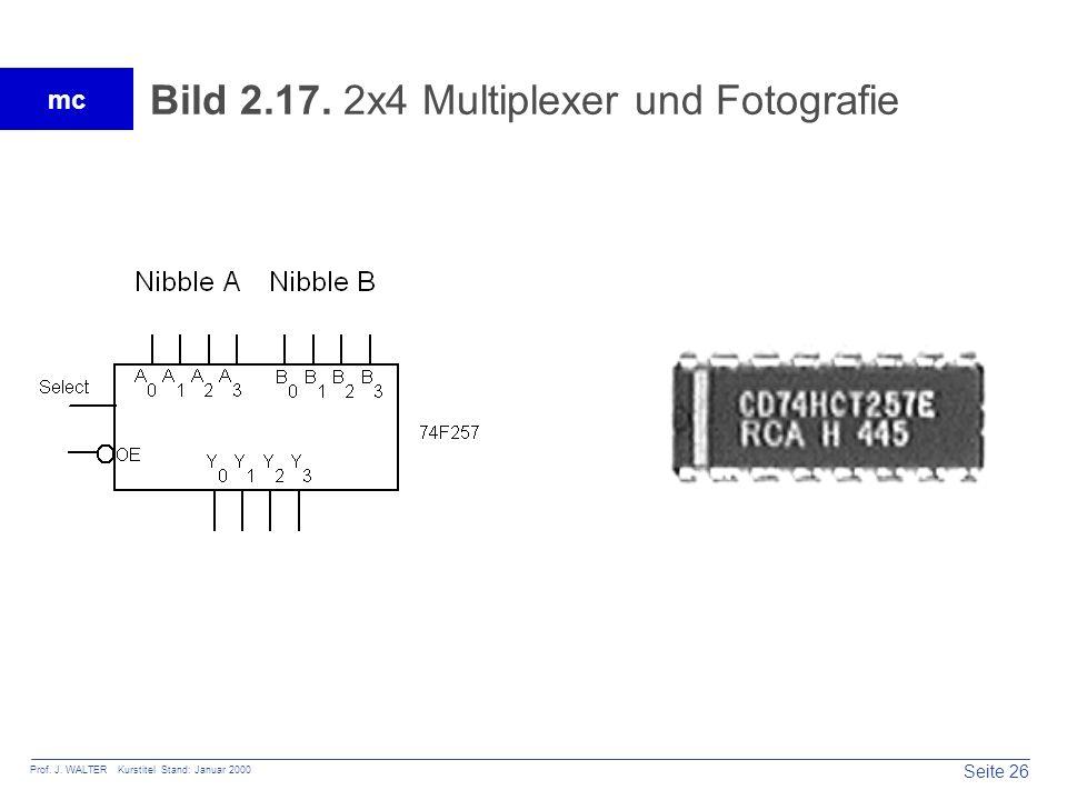 Seite 26 Prof. J. WALTER Kurstitel Stand: Januar 2000 mc Bild 2.17. 2x4 Multiplexer und Fotografie