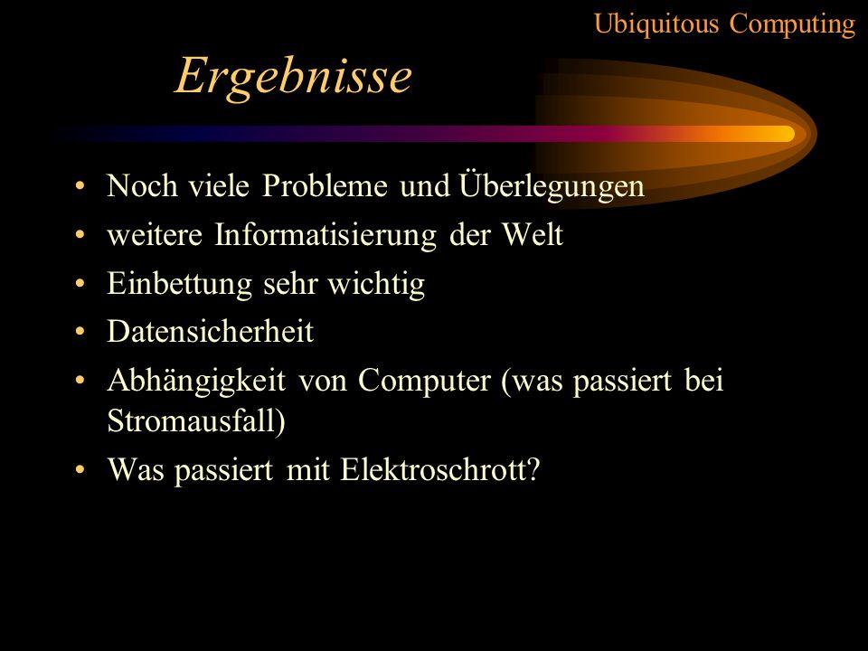 Ubiquitous Computing Beispiele