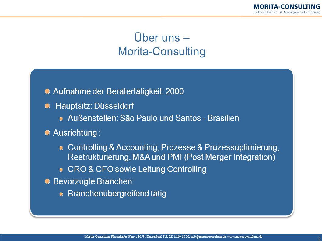 3 Morita-Consulting, Rheindorfer Weg 4, 40591 Düsseldorf, Tel: 0211/260 60 20, info@morita-consulting.de, www.morita-consulting.de Aufnahme der Berate