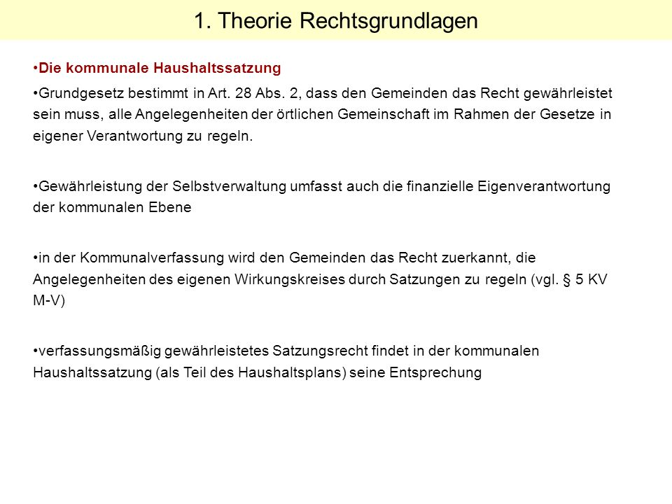 Beschluss 2004 der Stadtvertretung Oktober 2004 Konzept zur Einführung der dezentralen Ressourcenverantwortung in der Stadtverwaltung Neubrandenburg Die Einführung der dezentralen Ressourcenverantwortung ab 1.
