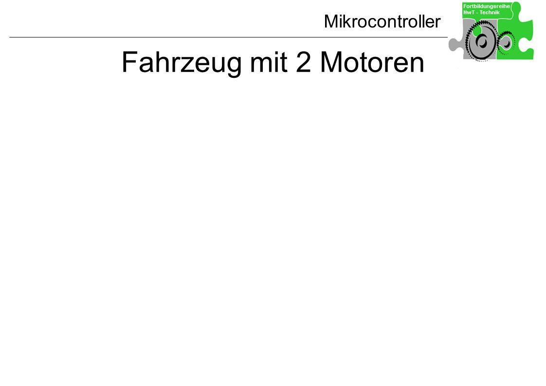 Mikrocontroller Fahrzeug mit 2 Motoren