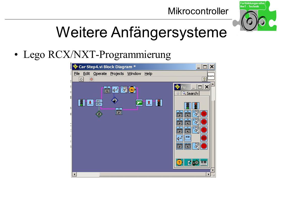 Mikrocontroller Weitere Anfängersysteme Lego RCX/NXT-Programmierung