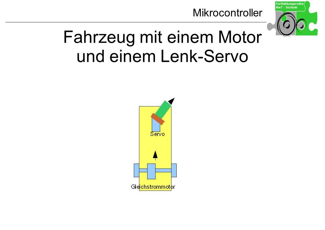 Mikrocontroller Fahrzeug mit einem Motor und einem Lenk-Servo